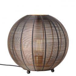 Black openwork metal floor lamp