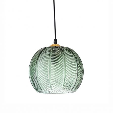 Suspension ronde verte en verre Bloomingville