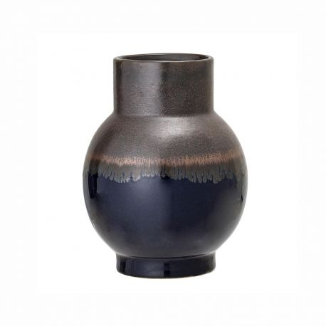 Bloomingville blue and brown stoneware vase