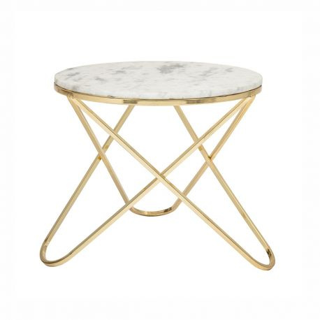 Bloomingville round marble coffee table