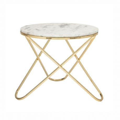 Table basse marbre pieds dorés Bloomingville