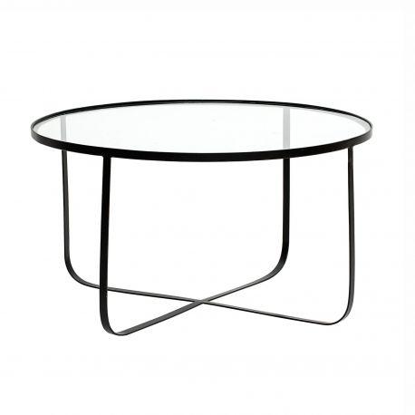 Table basse en verre trempé transparent