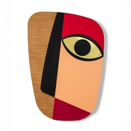 Masque mural rouge Abstrasso 1 Umasqu