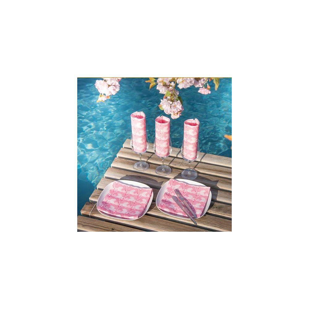 Serviettes En Papier Originales serviettes intissé flamant rose françoise paviot
