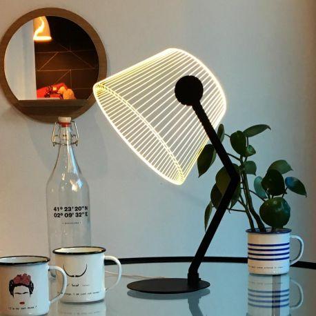 Lampe Ziggi noire Studio Cheha