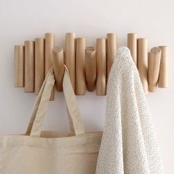 Wooden coat hook Piquet Umbra