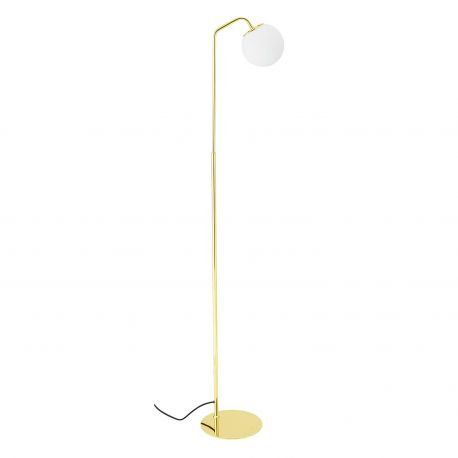 Golden floor lamp Globe Bloomingville