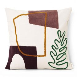 Ferm Living Leaf Mirage square cushion