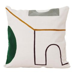 Ferm Living Gate Mirage square cushion