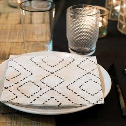Berber non-woven napkins Françoise Paviot