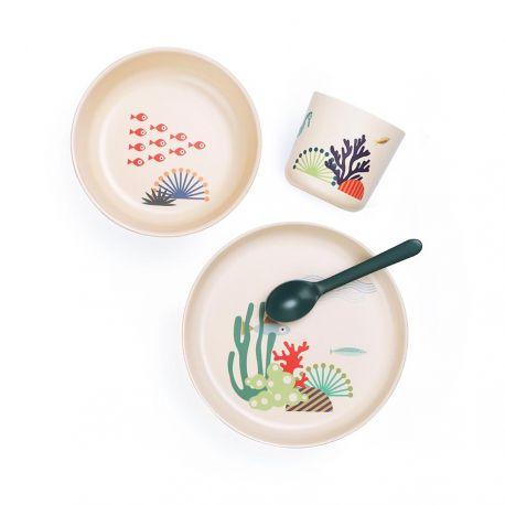 Seas children's tableware set Ekobo