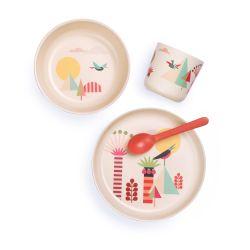 Vaisselle bébé bambou design