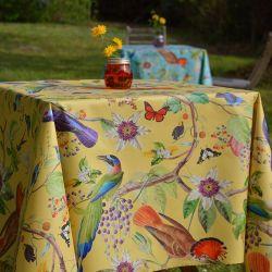 Nappe enduite Oiseaux Jaune Fleur de Soleil