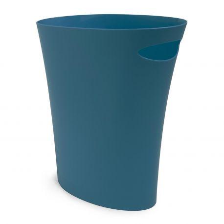 Corbeille a papier bleu