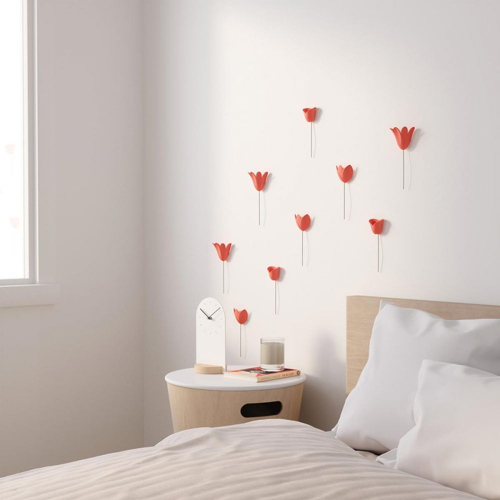 Wall decoration in relief coral flower - 3D tulips - Umbra