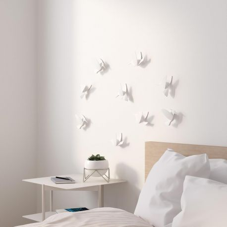 white Hummingbird Wall decoration Umbra