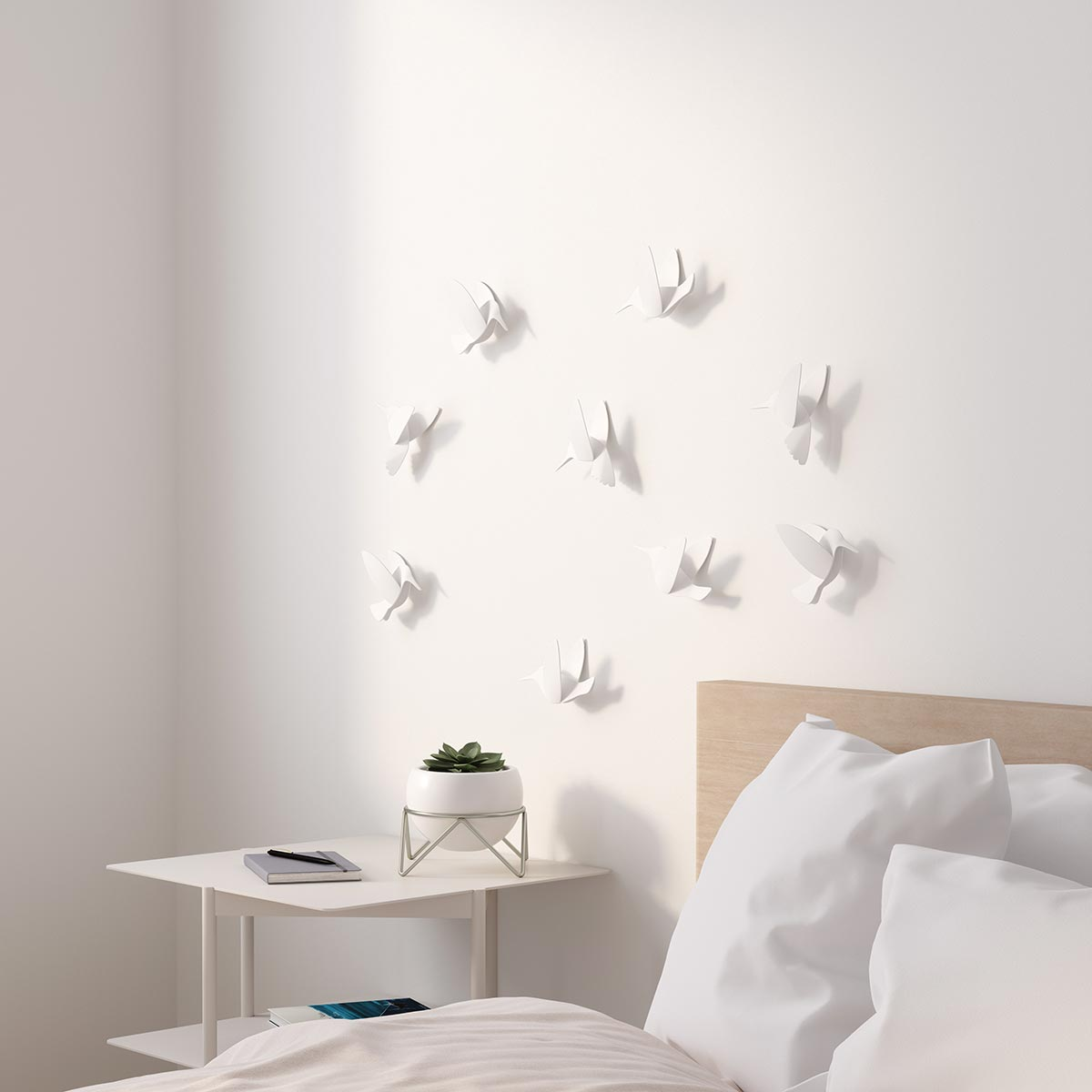 Décoration Murale En Relief white hummingbird wall decoration umbra