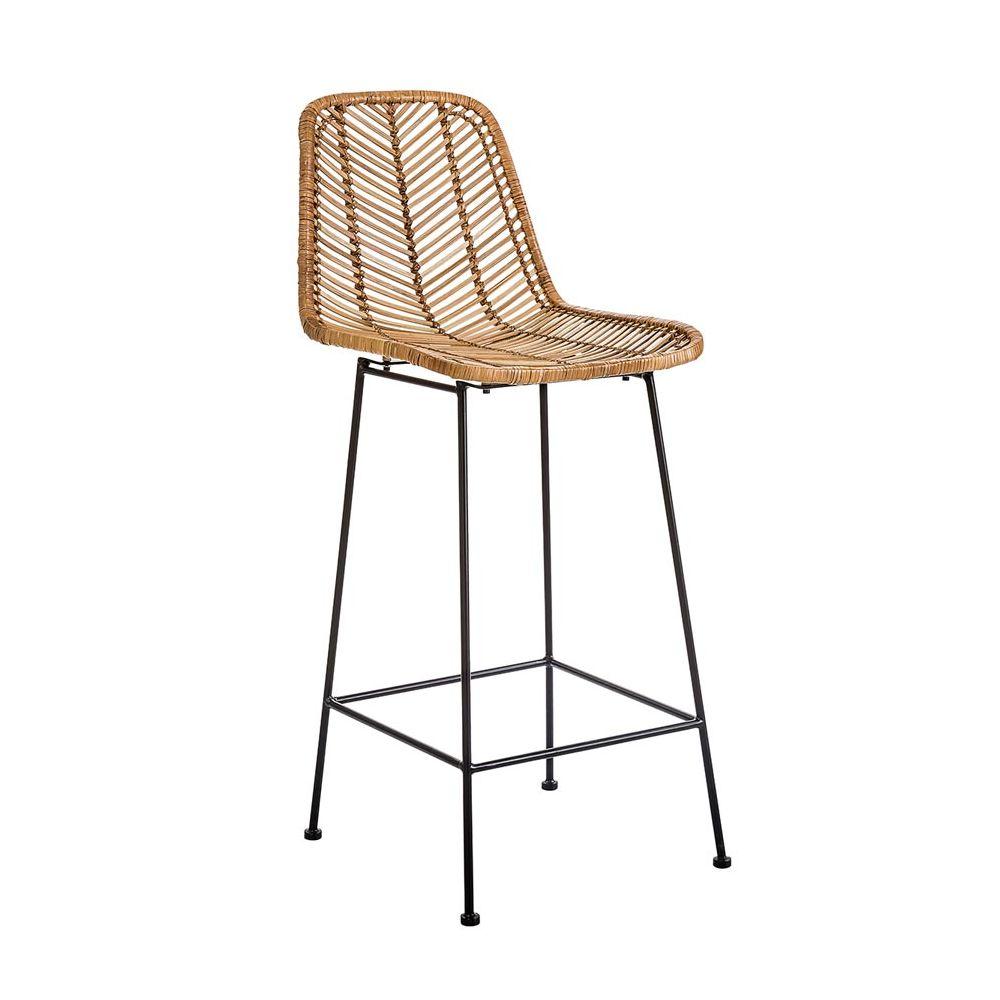 Prime Fay Rattan And Metal Bar Stool Bloomingville Uwap Interior Chair Design Uwaporg