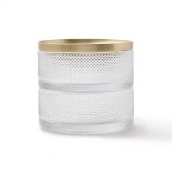 Boite à bijoux en verre Tesora Umbra