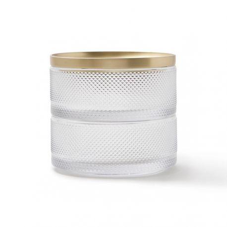 Tesora glass jewelry box