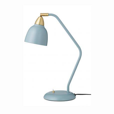 Lampe de table métal bleu