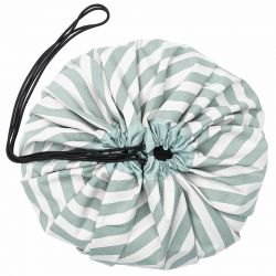 Sac de rangement Stipes vert Play and Go
