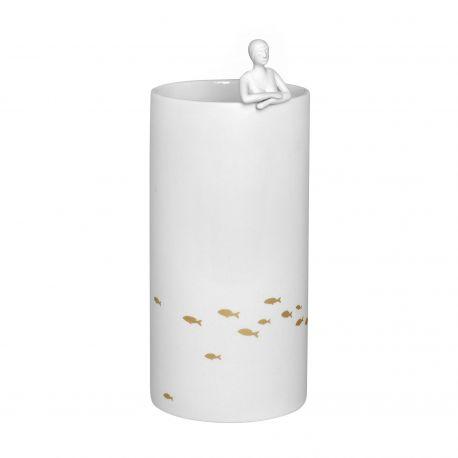 Vase en porcelaine Pond Räder