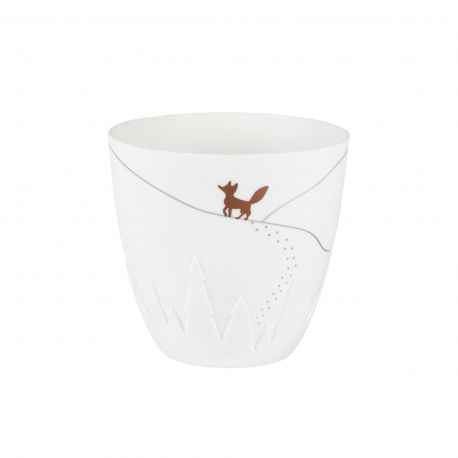 Photophore en porcelaine Fox