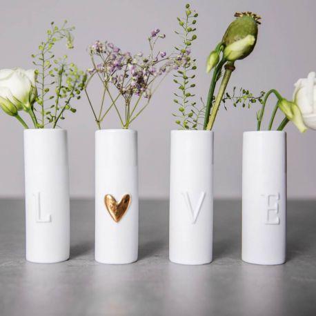 4 vases Love Räder