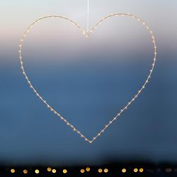 Coeur lumineux 40 ou 80 leds