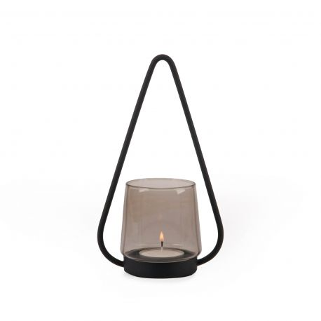 Metal and glass candle jar Lys XLBoom