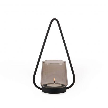 Photophore design en  métal et verre