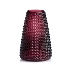 Dim purple glass vase XL Boom
