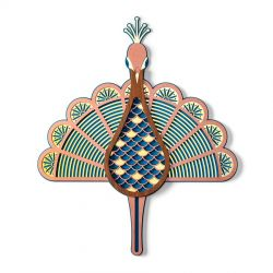 Wall decoration Peacock Umasqu