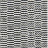 Tapis polypropylene noir et blanc