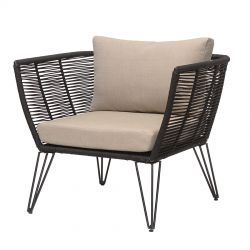 Mundo Lounge Chair black and beige Bloomingville
