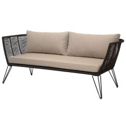Mundo Sofa black and beige Bloomingville