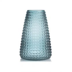 Grand vase en verre Bleu écaille