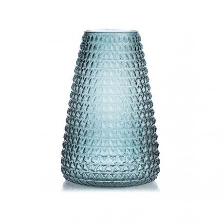 Dim blue glass vase XL Boom