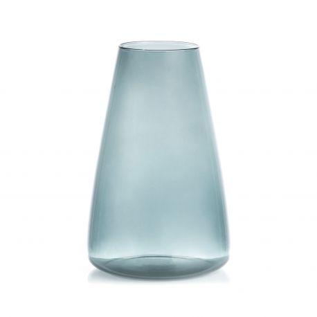 Vase en verre Bleu lisse