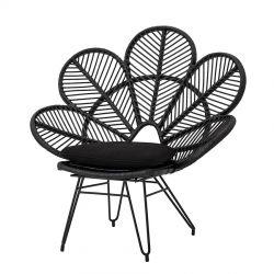 Shana Black rattan armchair Bloomingville