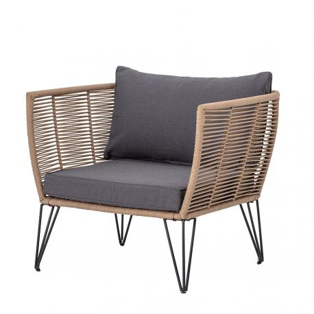 Mundo Lounge Chair beige and grey Bloomingville