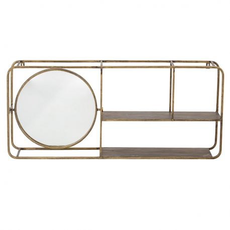 Golden Mirror Shelf Bloomingville