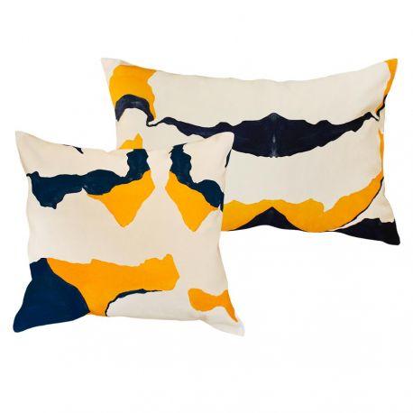 Blue and Yellow Broome Cushion Adjamée