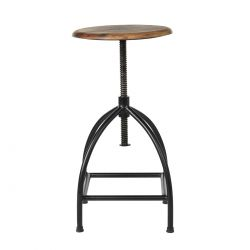 Metal and wood stool Sire Broste Copenhagen