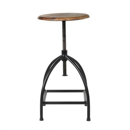 Metal and wood stool Sire Broste Copenhagen