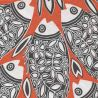Orange Fish non-woven napkins Françoise Paviot