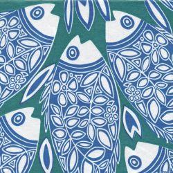 Serviettes intissé Poisson Bleu Françoise Paviot