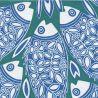 Serviette Francoise Paviot Poisson Bleu