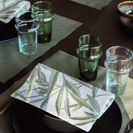 Willow non-woven napkins Françoise Paviot